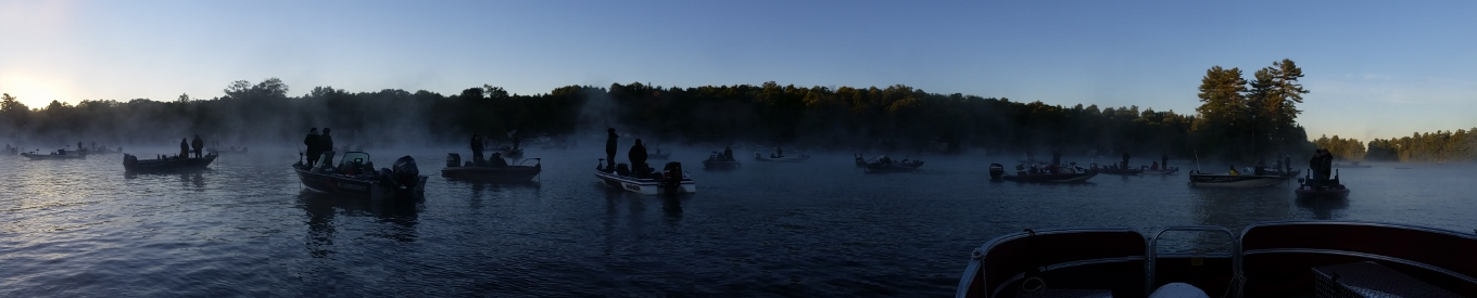 Boats in mist